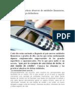 Cláusulas y prácticas abusivas de entidades financieras (1)