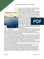 """APRECIAÇÃO CRÍTICA LIVRO """"ARQUIPÉLAGO"""" DE JOEL NETO"""
