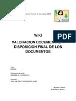 Valoracion Documental - trabajo