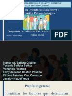 Prevencion de Factores de Riesgos en Adolescentes Grupo 2 Maestría Nancy