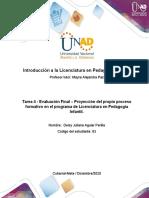 Formato 4 - Formato para la elaborar la proyección del propio proceso formativo en el programa de Licenciatura (1)
