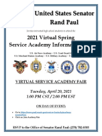 Virtual Spring Service Academy Flyer 2021