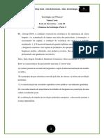Sociologia em 5 Passos Lista de Exercícios  - Clássicos da Sociologia - Parte 2