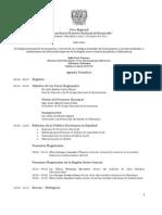 """01-03-11 Programa 3er Foro """"Hacia un nuevo proyecto nacional de desarrollo"""""""