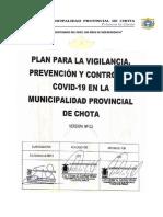 Plan de Vigilancia, Prevención y Control del COVID-19 en el trabajo - MPCH