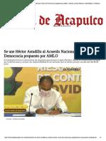 01-03-2021 Se une Héctor Astudillo al Acuerdo Nacional a Favor de la Democracia propuesto por AMLO