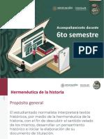 Presentación de Hermenéutica 6to semestre DGESuM (2)