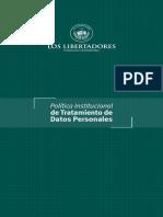 Politica Datos Personales 2019 2
