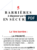 5 barriéres