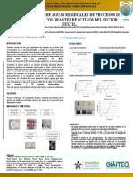 Tratamiento de Aguas Residuales Provenientes de Los Procesos de Teñido Con Colorantes Reactivos Del Sector Textil