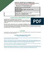 GUÍA Nº 2 PROFUNDIZACIÓN(Comunicación, Arte y Expresión)INGLÉS