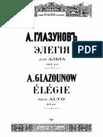 Glazunov Elegie for Viola, Op. 44