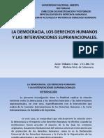 La democracia, los Derechos Humanos y las intervenciones supranacionales.