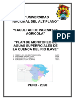 PLAN DE MONITOREO DE AGUAS SUPERFICIALES DE LA CUENCA DEL RIO ILAVE