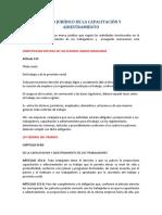 MARCO JURÍDICO DE LA CAPACITACIÓN Y ADIESTRAMIENTO