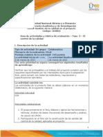 Guia de actividades y Rúbrica de evaluación - Fase 5 - El control de la calidad