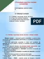 2.1.1 Bilanţul contabil - definiție, funcții, structură