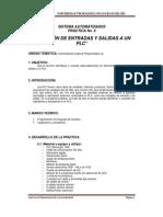 Práctica de Conexión de Entradas y Salidas a PLC ML-1500