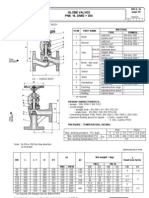 globe valves dimensions