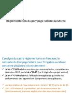 Réglementation Du Pompage Solaire Au Maroc