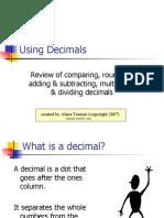 Chapter 3 Decimals