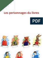 Les personnages du livres français plus 1