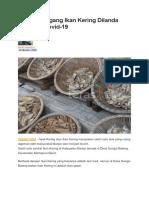 Nasib Pedagang Ikan Kering Dilanda Pandemi Covid-19