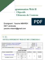 Cours Programmation Web 2 présentation du module