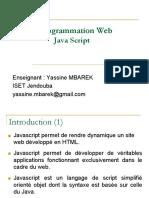 Cours Programmation Web II Chapitre 1 JavaScript