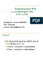 Cours Programmation Web II XML DTD Version 2017