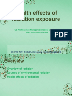 Health effects of radiation exposure - F