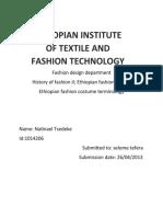 Nati Ethioian Fashion Terminology A