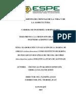 Elaboracion y Evaluacion de La Harina De