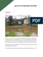 Sungai Martapura Kini Menjadi Kali Mati