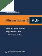 Burgerliches Recht Band 2 Schuldrecht Allgemeiner Teil