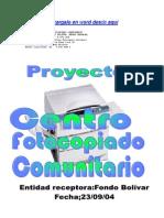 Proyecto de Centro de Fotocopiado