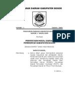 perda no 1 tahun 2009 tentang penyertaan modal daerah pemerintah kabupaten bogor