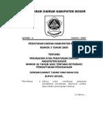 perda no 3 tahun 2009 tentang retribusi pendaftaran perusahaan