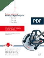 Bedienungsanleitung ZORN Leichtes Fallgewichtsgerät ZFG 3.0-3.1-3000