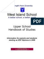 Upper School Handbook for 2008