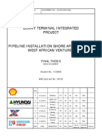 Thesis on SPM pipe laying
