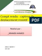 TP01 CAPTEUR DE DEPLACEMENT R