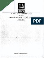 Norma Para Certificacao DNV 27 1 Conteineres Maritimos Abril 2006