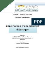 La construction d'une situation didactique