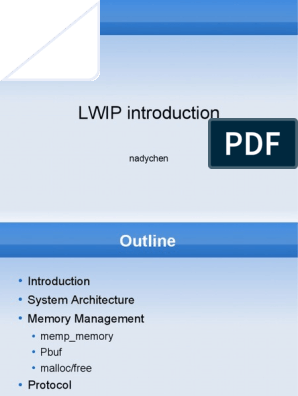 lwip_introduction | Transmission Control Protocol | Internet