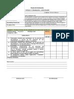 Pauta de Evaluación guias y trabajos 2020 lenguaje