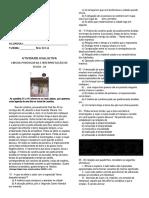ATIVIDADE AVALIATIVA DE PORTUGUÊS 01 DISNEY