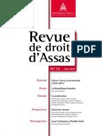 Revue de Droit Dassas Rda-n19