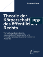 Theorie der Körperschaft des öffentlichen Rechts