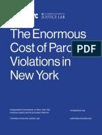 Cost Parole Violations in New York